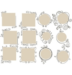 Doodle frames collection vector