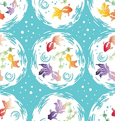 Gold fishes pattern vector