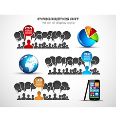 Infographics concept background art vector image