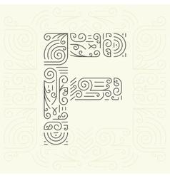 Letter F Golden Monogram Design element vector image vector image