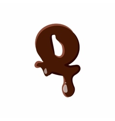 Letter Q from latin alphabet made of chocolate vector image vector image