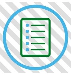 List page icon vector