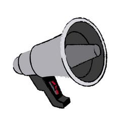Megaphone loudspeaker advertising marketing icon vector
