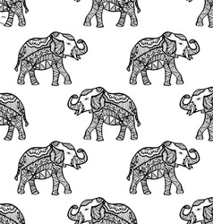 Pattern with elephant vector