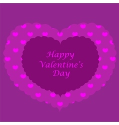 Purple valentine card seamless pattern vector image vector image