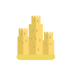 sand castle icon on white isolated background vector image vector image