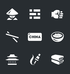set of china icons vector image