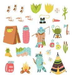 Summer adventure set vector image