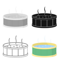 Swimming pool icon icon of vector