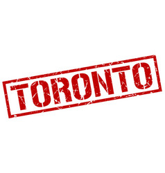 Toronto red square stamp vector