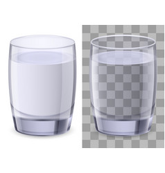 Two glasses of water on white background for vector