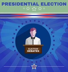 Usa presidential election debates banner vector