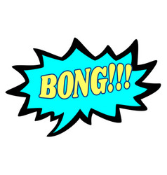 Word text blue bong image vector