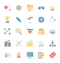 SEO and Marketing Colored Icons 4 vector image