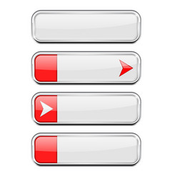 white buttons with red tags menu interface vector image