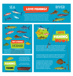 Poster for fishing club trip vector