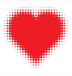Red heart on canvas texture vector