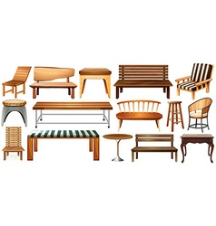 Set of furnitures vector