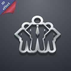 Business team icon symbol 3d style trendy modern vector