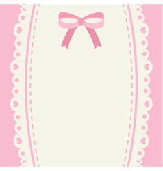 Cute pastel ribbon and lace background or banner vector