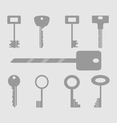 Keys icons set vector