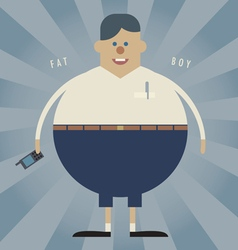 Fat boy vector