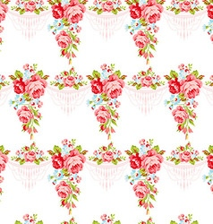 Seamless vintage pattern with english roses vector
