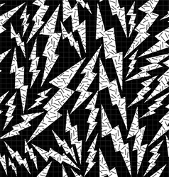 Bolt retro seamless pattern in black and white vector