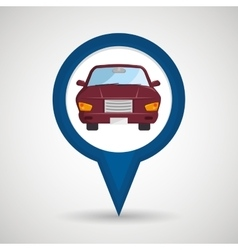 car location design vector image