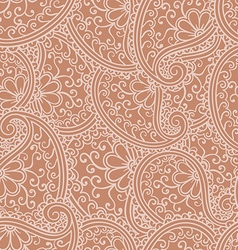Hand drawn seamless paisley pattern doodle style vector