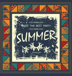 boho summer background vector image