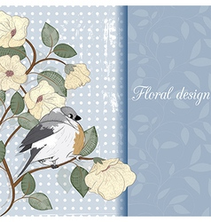 Card with bird can be used for website decoration vector