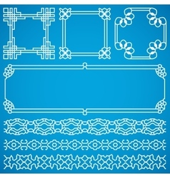 Chinese decorative frames and borders with vector
