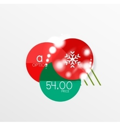 Christmas sale paper stickers vector