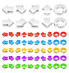 color 3d arrows vector image vector image