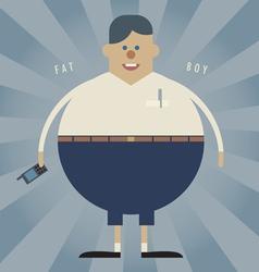 Fat boy vector