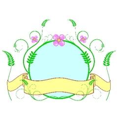 flower label vector image vector image