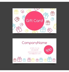 Gift card template vector