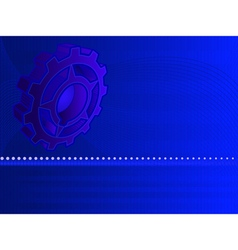 high tech gear background vector image vector image