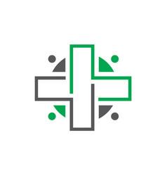 hospital logo vector image vector image