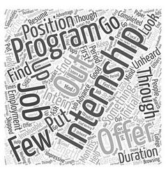 Internship programs word cloud concept vector