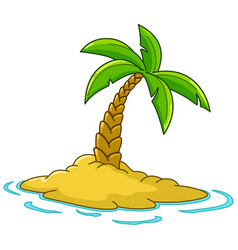 island with palm tree vector image vector image