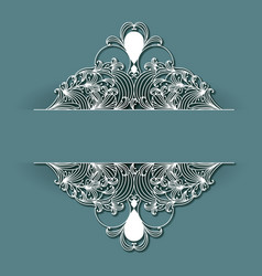 Laser cutting wedding frame decoration design on vector