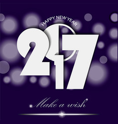 New year 2017 concept on violet ambient vector