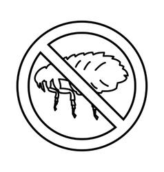 No flea sign icon outline style vector