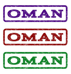 Oman watermark stamp vector