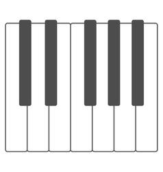 Piano keys vector