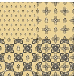 Set of four Decorative ornament vector image vector image