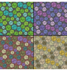 Set of four floral seamless pattern vector image