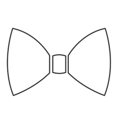 simple bowtie icon vector image